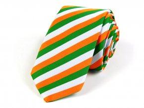 51402180 kravata trikolora bila zelena oranzova
