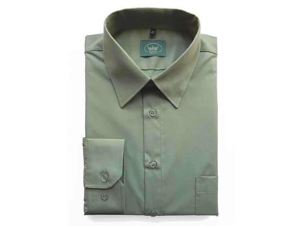 f8d28c7a1f7 Pánská myslivecká košile BASIC WEAR DR - Hedva ČESKÝ BROKÁT