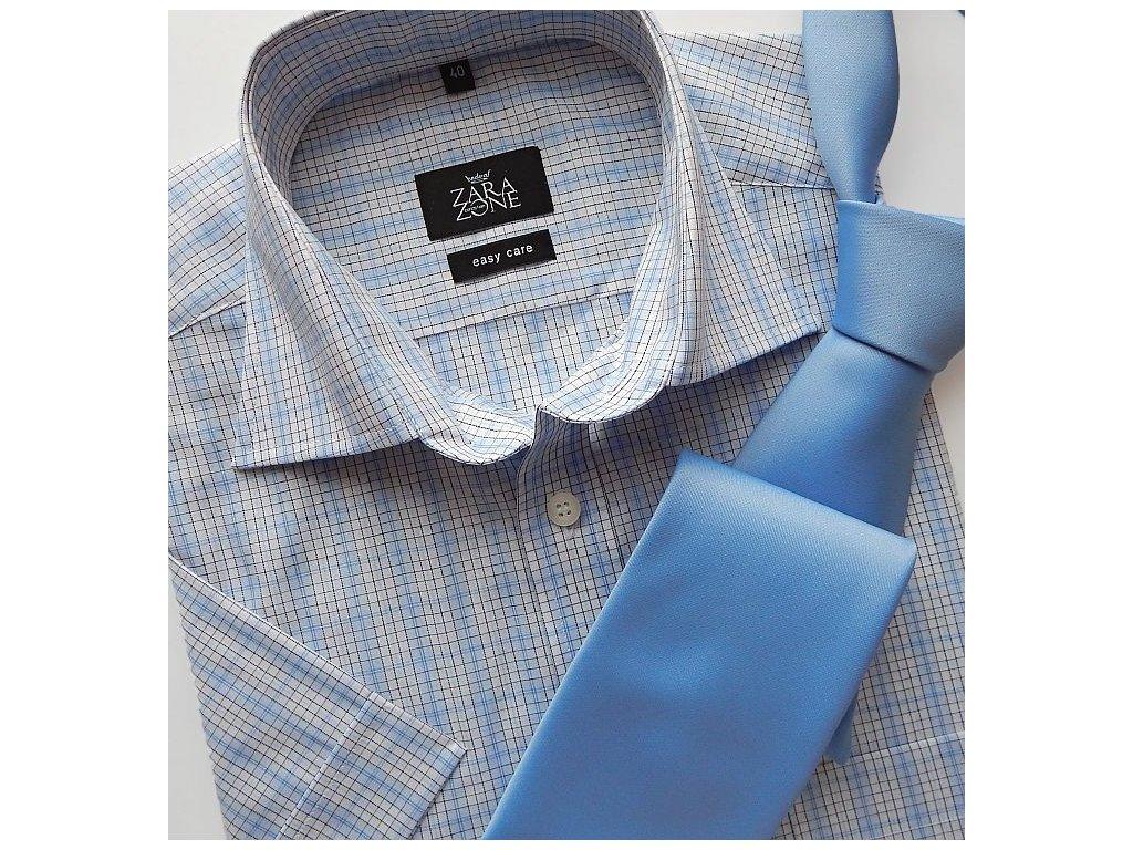 884458efde48 Košile ELEGANT modro-bílé káro - Hedva ČESKÝ BROKÁT