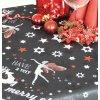 Ubrus Odasan 70x70 TISK merry christmas bílá