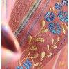 Historický brokát 160 51038 květy v pruzích starorůžová/ zelená, žlutá