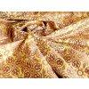 Historický brokát 160 51056 čtyřlístek žlutá/červená zlatá