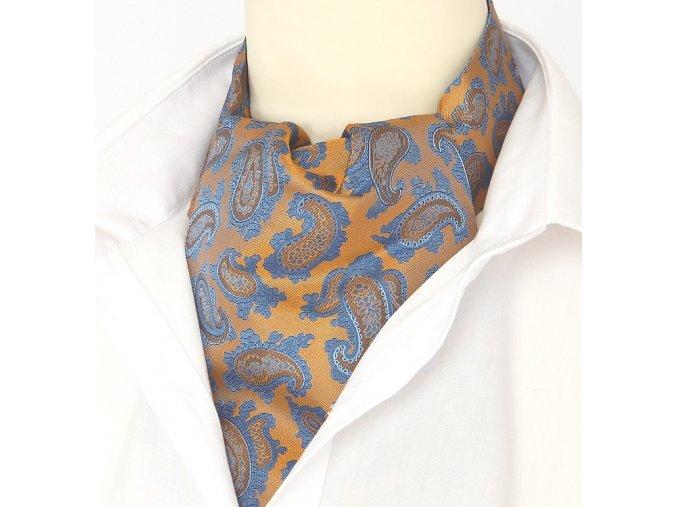 Z00970 kravatošála ASKOT hedvabi turek rezava