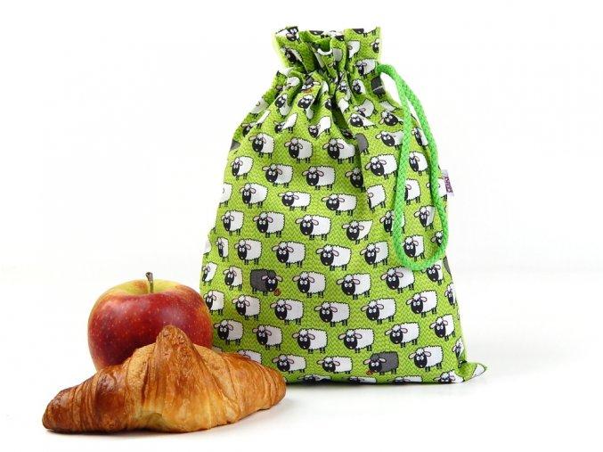 71100374 sacek pytlik na svacinu ovecka zelena 1