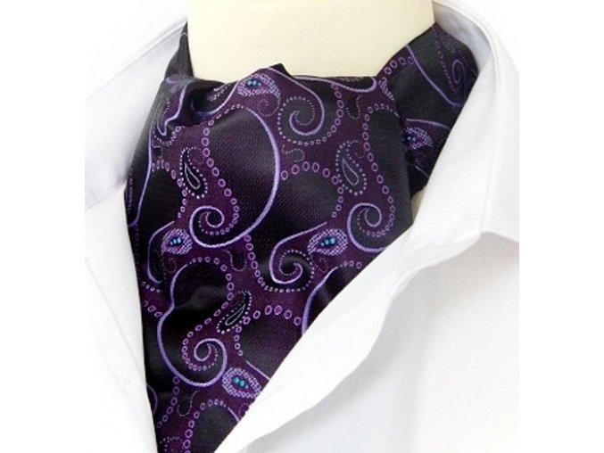 kravatosala pes turecky vzor fialova