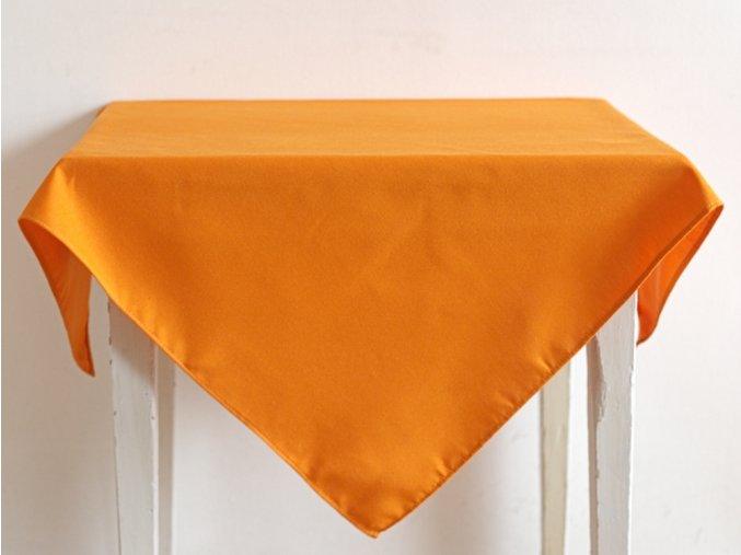 Ubrus 88x88 hladká oranžová (1)