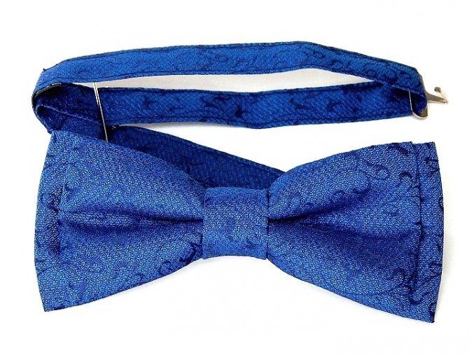 53400630 motylek polyester zakar modra