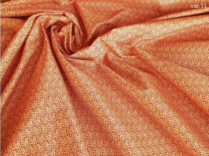 Ondrin 160 krojový brokát GERBERA bílá/červená