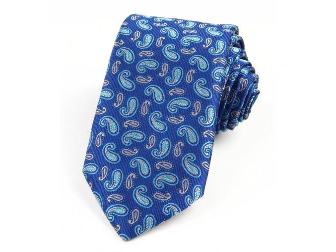 51401482 kravata turek modra tyrkys