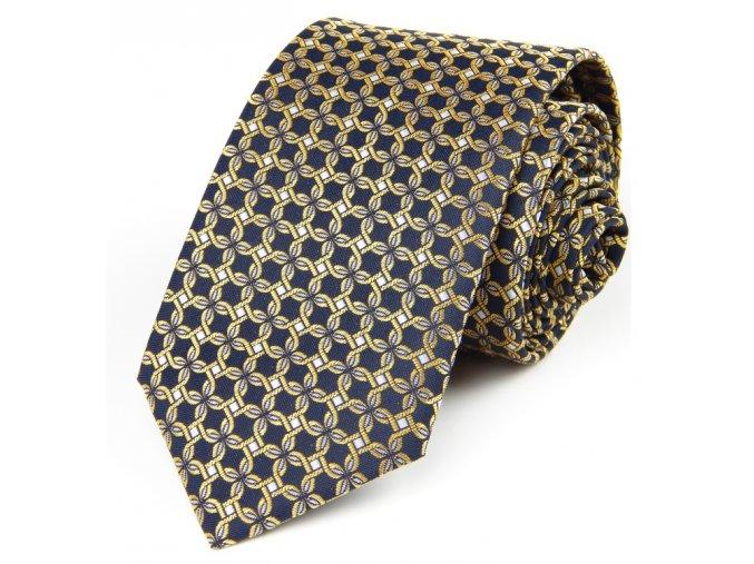 51401522 kravata zakar modra zluta
