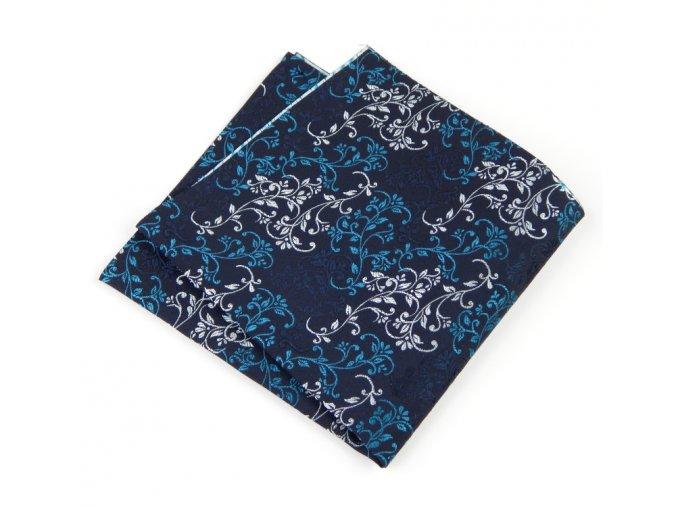 57400833 kapesnicek floral modra tyrkys seda