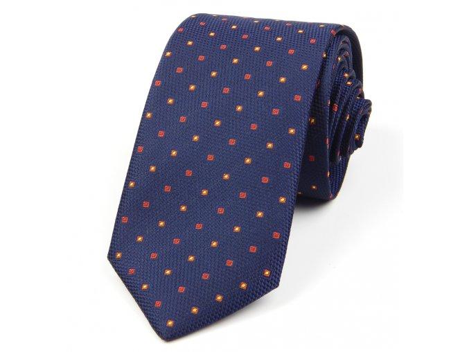51401665 kravata ctverecek modra