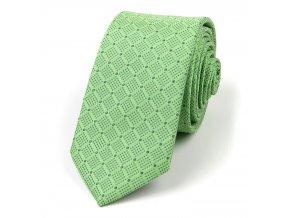 51401997 kravata puntiky hedvabi zelena