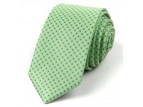 51401998 kravata ctverecek hedvabi zelena