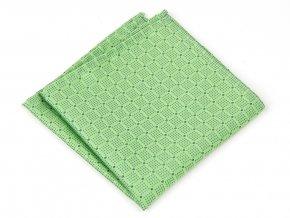 57401045 kapesnicek do saka hedvabi puntik zelena
