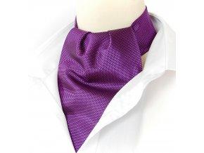 18100230 kravatošála ASKOT hedvabi ZAKAR fialova