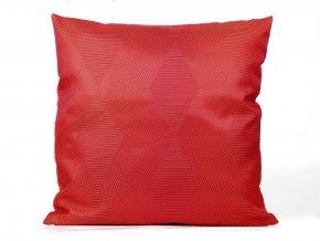 23500092 dekoracni polstar brokat hexagon cervena