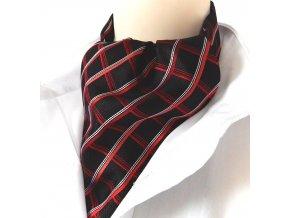 18100280 kravatosala ASKOT HEDVABI cervena karo