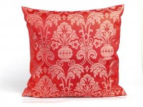 23500107 dekoracni polstar brokat kalich cervena