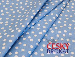 0631 latka bavlna puntik byla modra 4