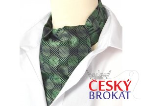 18100283 kravatosala askot hedvabi zelena kruhy
