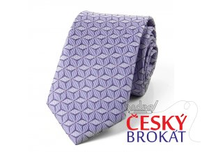 51402003 kravata hvezda fialova