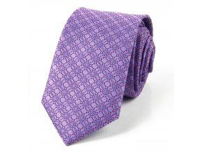 51402007 kravata mrizka fialova