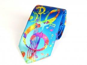 51402127 kravata hudebni modra