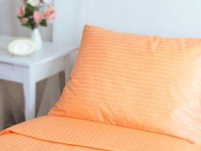 21400066 R5943 lozni povleceni bavlna damasek prouzek oranzova