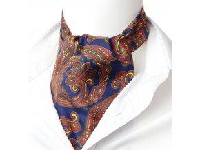 18100356 kravatosala ASKOT HEDVABI brokatovy vzor rezava