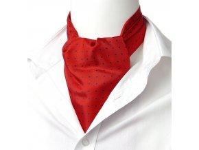 18100357 kravatosala ASKOT HEDVABI cervena puntik
