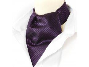 18100229 kravatošála ASKOT hedvabi PUNTIK fialova
