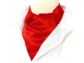18100392 kravatošála ASKOT hedvabi SATEN CERVENA