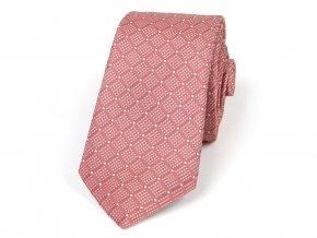 51402011 kravata puntik lososova oranzova (1)