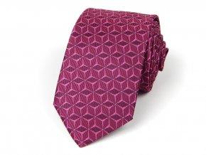 51402030 kravata hvezda fuchsie
