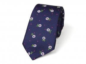 51402136 kravata hedvabi kvetina modra