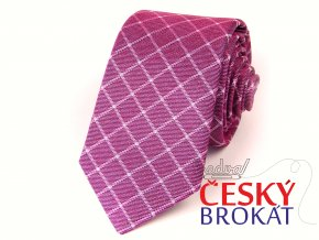 51402145 kravata hedvabi karo fuchsie