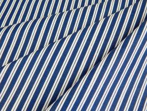 0867 latka bavlna prouzek modra bila 2