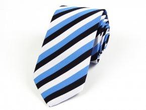 51402185 kravata trikolora estonsko bila cerna modra
