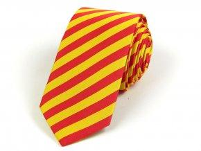 51402189 kravata bikolora spanelsko cervena zluta 1