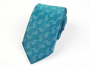 51402224 kravata bryle tyrkysova
