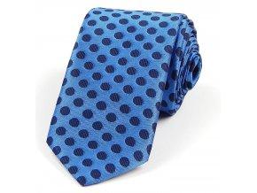 51401045 kravata polyester PUNTIK MODRA