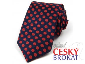 Kravata polyester 7 cm puntík