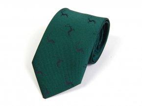 514002252 kravata myslivecka detska jelen zelena 1