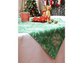 Ubrus Odaska vánoční hvězda zelená