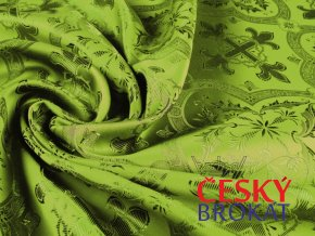 r 6357 brokat barvena olivova 1