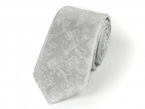 51402299 kravata floral seda