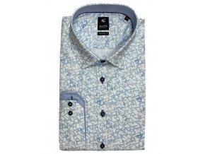 Košile Pure DR 100% ba modro bílá