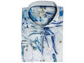 Košile Pure DR 100% ba geometrický vzor