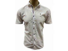 Košile Pure KR 100% ba krep bílá